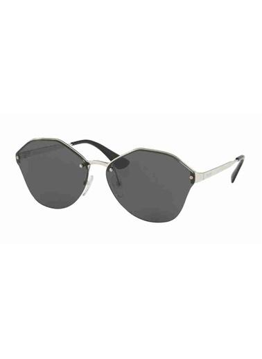 Prada Prada 64Ts 1Bc5S0 66 Ekartman Kadın Güneş Gözlüğü Gümüş